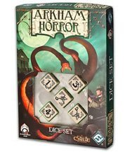 изображение Ужас Аркхема: набор кубиков (кость) (Arkham Horror Bone Dice Set)