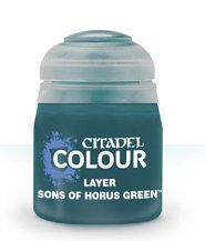 изображение Краска Цитадель Layer: Sons of Horus Green  (Citadel Layer: Sons of Horus Green)