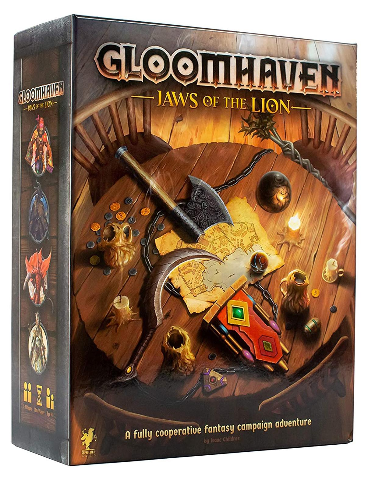 Коробка настольной игры Глумхевен Мрачная гавань Львиный оскал
