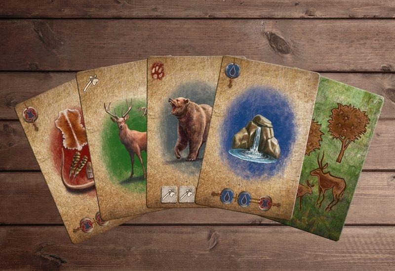 Карты настольной игры Кроманьонцы